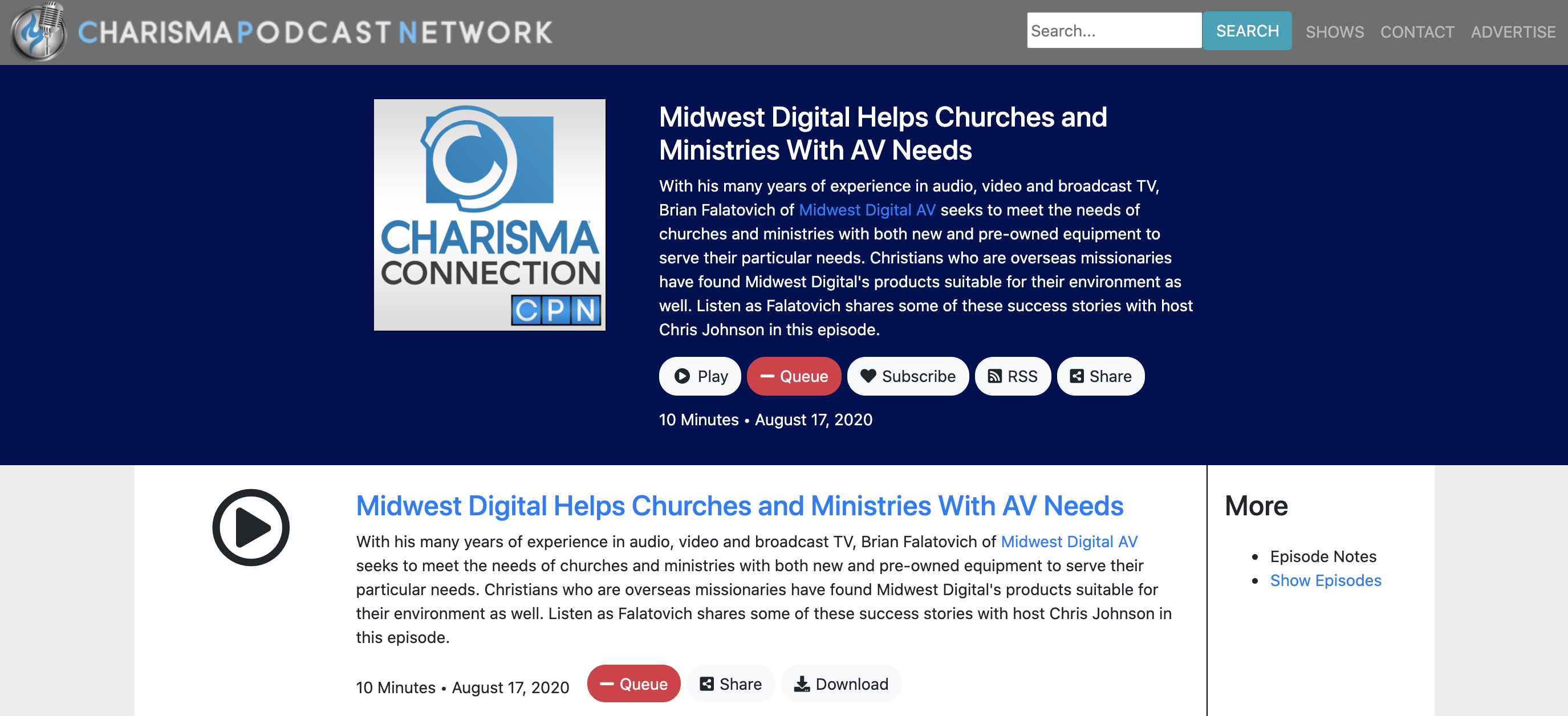 Charisma Media interview about Midwest Digital Corp.